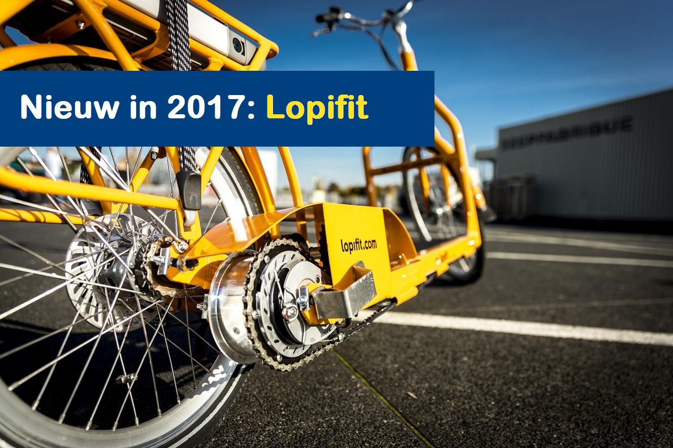 Groepsuitje in Friesland: De Lopifit is een fiets met een lopendeband die de loopbeweging elektrisch ondersteund.