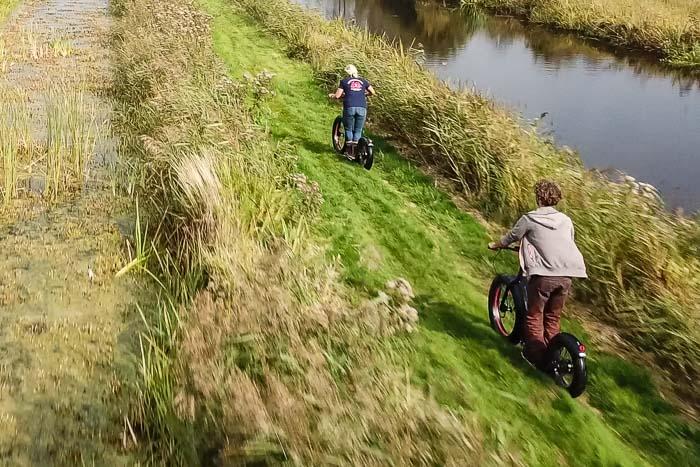 Groepsuitje in Friesland: Off Road met een elektrische step